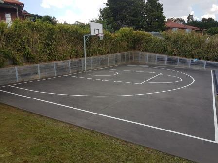 Half court line marking