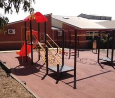 Playground safety inspections, Basketball testing load/stress test, shade sail inspection.