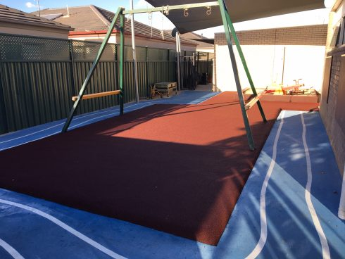 Rubber Soft fall and Interactive Surfacing