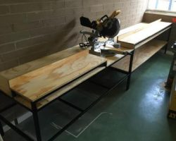 School maintenance team work bench