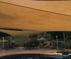 Residential Shade Sails over pool