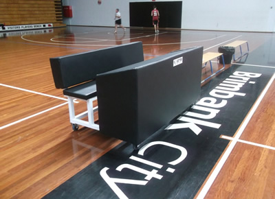 Scorers bench for basketball stadiums
