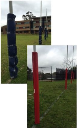 safety padding AFL Goal Posts
