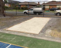 long jump pit/ sand pit