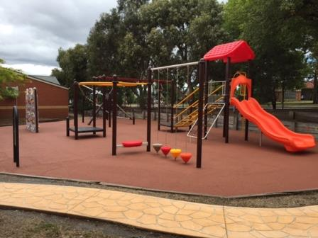 New playground at Berwick Primary School.