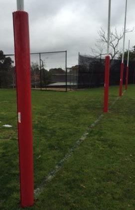 red AFL goal padding