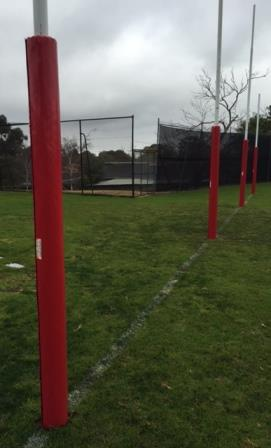 red AFL goal padding