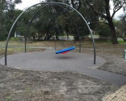 rubber softfall under playground swing