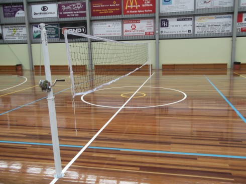 Volleyball post and net
