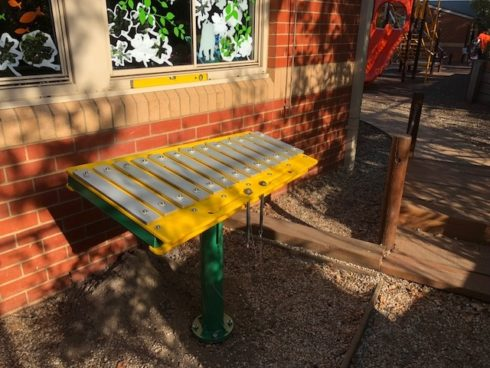 yellow Xylophone - musical instrument